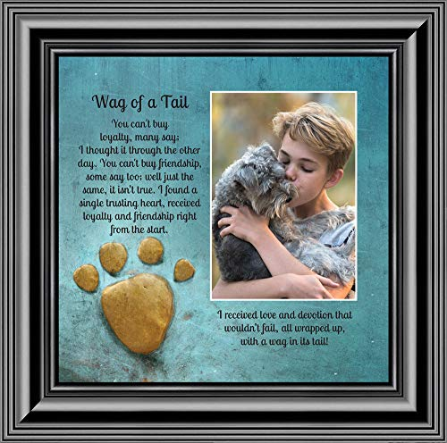 A Wag of a Tail, Personalize Photo Frame for The Family Pet Dog, 10X10 6381B