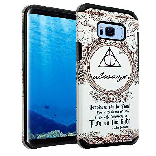 Galaxy S8 Case, IMAGITOUCH 2-Piece Style Slim Fit Armor Case with Dual Layer Protective Cover Air Cushion Design Harry Potter Always for Samsung Galaxy S8 Harry Potter Dumbledore Always Hybrid