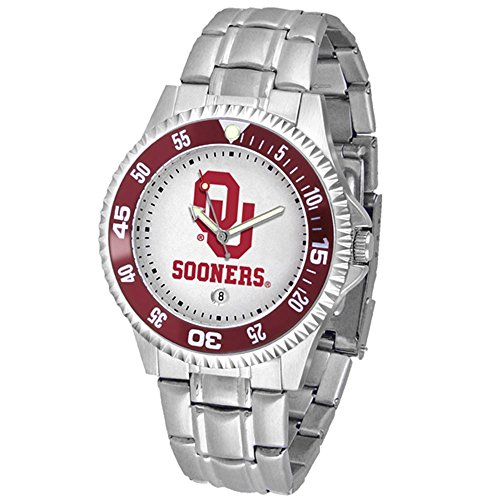 Oklahoma Sooners NCAA ''Competitor'' Mens Watch (Metal Band) by SunTime