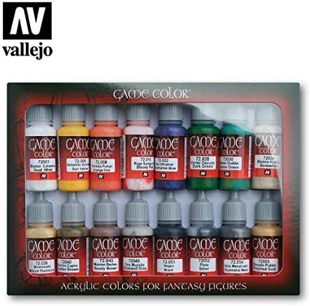 VALLEJO-3072299 72299 Vallejo Game Color Set DE 16, Multicolor ...