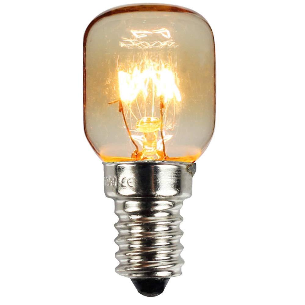 10 St/ück//Pack SES E14 Schraubsockel vernickelt Pygmy Lampen 300 Grad Mikrowellen-//Ofen-bewertete Gl/ühbirne Nachtlampe 25.00W 240.00V