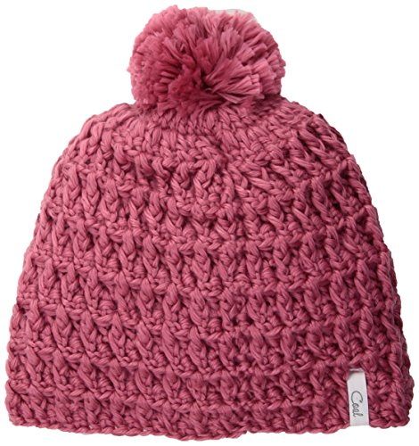 Coal Women's Hand-Crocheted Waffle-Knit Beanie with Pom, Rose, One ()