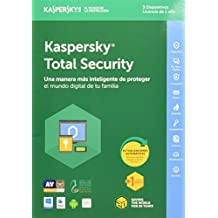Kaspersky Total Security 2018, Multidispositivos, 3 Usuarios, 1 Año