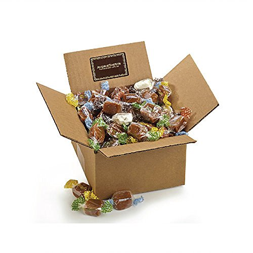 Soft Caramels Bulk Individually Wrapped Candies - Gluten Free Salted Caramels Thank You Food Gifts, Pumpkin Flavor Available (1lb Assorted Flavors)