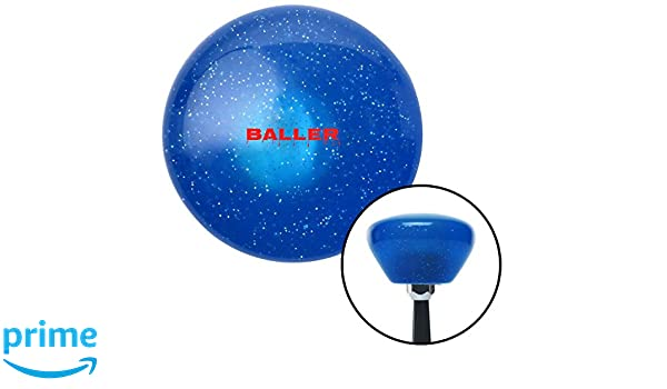 Green Target with Splatter American Shifter 248625 Blue Flame Metal Flake Shift Knob with M16 x 1.5 Insert