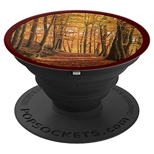 - Autumn Leaves Fall Color Forest Wooded Path Nature Trees - PopSockets Grip and Stand for Phones and Tablets