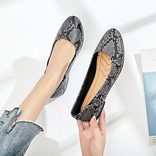 Womens Ballet Flats Classic Comfortable Round Toe Shoes Casual Slip-on Flats Loafer