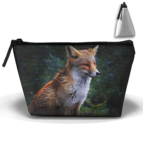 Storage Portable Bag Cosmetic Pouch Fox Large Capacity Make Up Purse Medicine Trapezoid Toiletry - Mall Valley Fox Stores