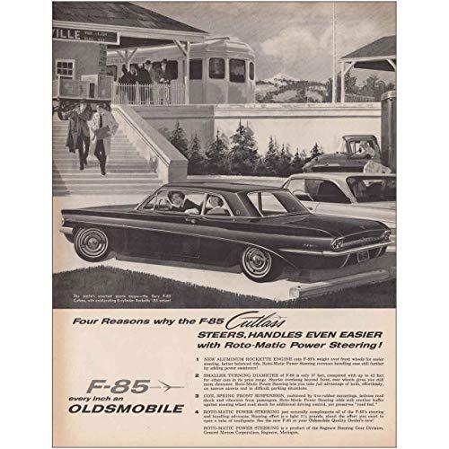 1961 Oldsmobile Cutlass F85: Four Reasons Steers, Handles, Oldsmobile Print Ad
