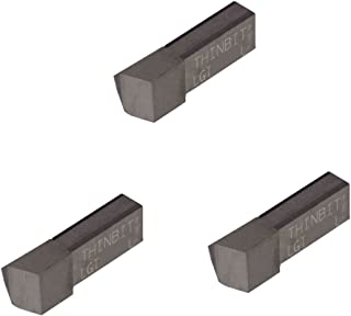 Grooving Insert for Non-Ferrous Alloys Uncoated Carbide THINBIT 3 Pack LGT060D5L 0.060 Width 0.150 Depth Aluminium and Plastic Without Interrupted Cuts Sharp Corner
