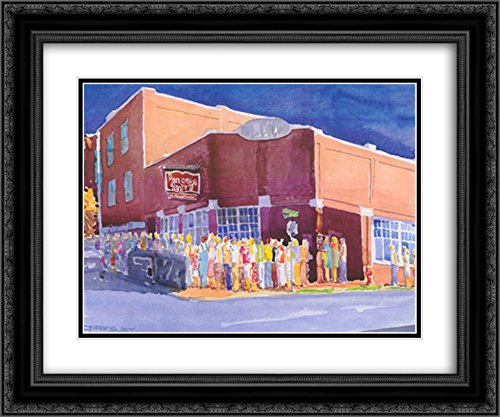 Nashville Tn Framed (Pancake Paradise, Nashville, TN 2X Matted 18x15 Black Ornate Framed Art Print by J. Presley)