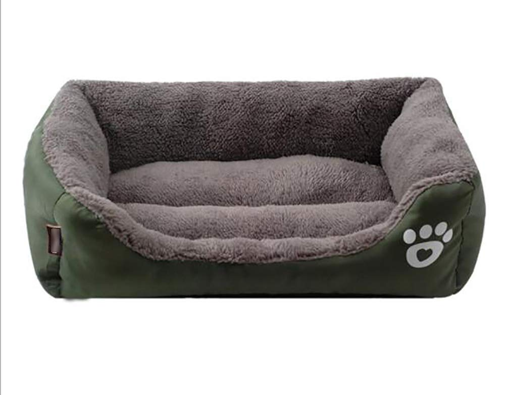 Dark green S Dark green S Gwanna Warm candy color pet nest, sofa bed(Oxford cloth) Soft Pad for Pets Sleeping (color   Dark green, Size   S)