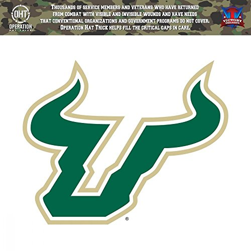 Victory Tailgate South Florida Bulls USF Operation Hat Trick OHT Die Cut Vinyl Decal (6x6)