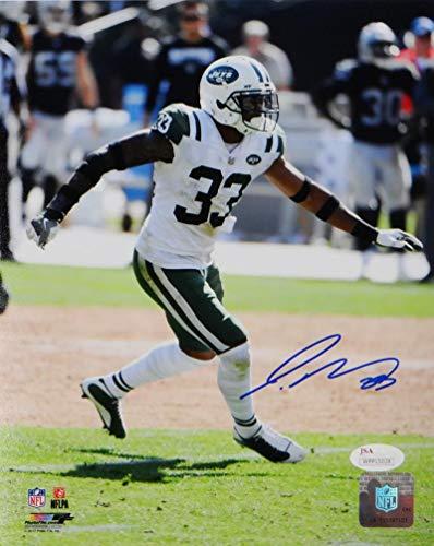 - Jamal Adams Autographed New York Jets 8x10 PF Photo Running- JSA W Auth Blue