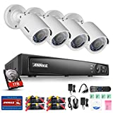 ANNKE 4CH 1080P Security DVR System with 4 * HD 1080P 2.0 MP IP66 Weatherproof Outdoor Surveillance Camera System (1TB HDD Included)