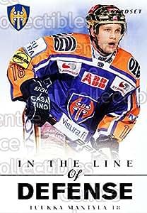 Tuukka Mantyla Hockey Card 2012-13 Finnish Cardset In The Line of Defense #12 Tuukka Mantyla