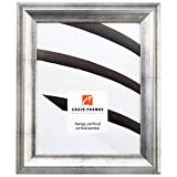 20x30 Poster Frame, Smooth Distressed Finish, 1.5'' Wide, Antique Silver (203313 POSTER)