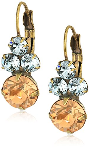 Wisteria Earrings (Sorrelli Women's Washed Waterfront Wisteria Drop Earrings, Color Blue/Gray, 1)