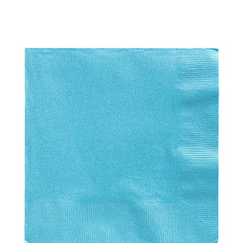 Caribbean Blue Luncheon Paper Napkins Big Party Pack, 125 Ct.