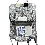 Fakeface-S Multi-Pocket Car Backseat Organizer Travel Storage Bag Auto Seat Back Kick Mat
