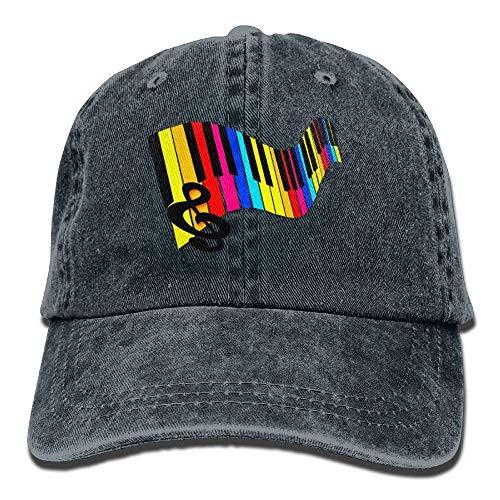 Caps béisbol Adjustable Hat Male Keys Baseball Denim hanbaozhou Piano  Rainbow Gorras Flag ZgPq5P 9166fd67b77