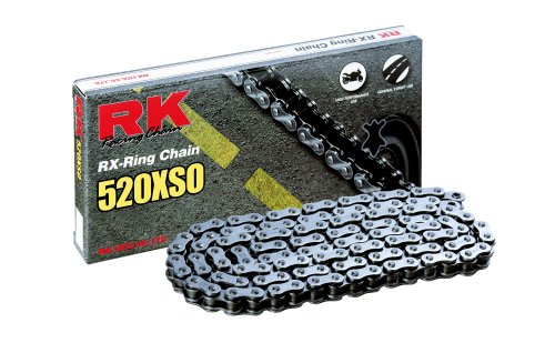RK Racing Chain 520XSO-106 106-Links X-Ring Chain with Connecting - Rivet O-ring Chain