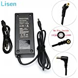 Lisen 19V 6.32A(6.3A) 120W AC Adapter Charger For ASUS Rog GL502VT GL502V GL502 Q550LF N550JV N56V GL551JM GL771JM R700VJ N550 N550JX X550JK G50 N53 ZX50JX;ADP-120ZB BB PA-1121-28 Power Supply Cord