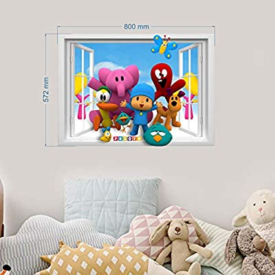 Pocoyo Wall Stickers for Bedroom Boys and Girls Wall Mural Wall Decal Art Wallpaper Sticker for Nursery Wall Art playrooms Boys Girls Pocoyo Wall Sticker decoracion Size 78cm x 55cm: Arts, Crafts & Sewing