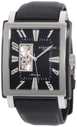 Stuhrling Original Men's 267.332D51 Metropol Automatic Black Dial Watch