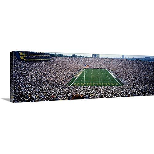 Premium Thick-Wrap Canvas Wall Art Print Entitled University of Michigan Football Game, Michigan Stadium, Ann Arbor, Michigan 36