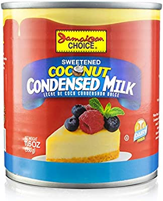 Amazon Com Jamaican Choice Sweetened Coconut Condensed Milk Dairy Soy Free Vegan Gluten Free Kosher 11 6 Oz 1 Grocery Gourmet Food