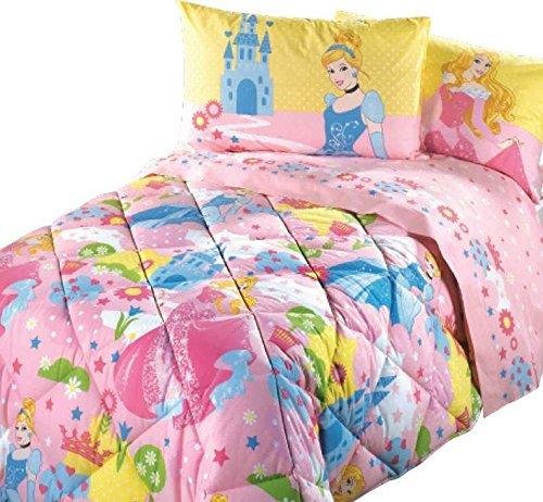 Piumone Principesse Disney Caleffi.Trapunta Princess Castello Caleffi Singola Rosa Cm 170x265 Peso