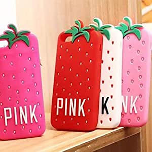 Mini - Strawberry Cute Cartoon Soft Silicone Case for iPhone 5/5S