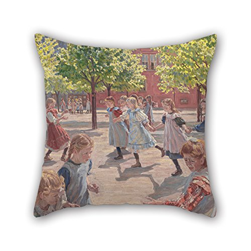 Slimmingpiggy Cushion Covers Of Oil Painting Peter Hansen - Playing Children, Enghave Square 20 X 20 Inches / 50 By 50 Cm,best Fit For Christmas,girls,monther,car,saloon,teens Girls Twin (Powerpuff Girl Costume For Guys)