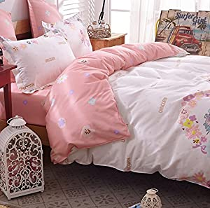 4pcs Magic Bedding Sheet Set Duvet Cover Pillow Cases Twin Full Queen Size
