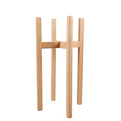 YJXJJD Wooden European Flower Stand, Floor-Standing Flower Pot Display Stand Potted Plant Assembly Balcony Living Room Simple Modern Beech Indoor and Outdoor (Size : 3260cm): Garden & Outdoor