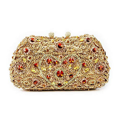 Handbag Multi Evening Occasions Wedding Special Detailing Designed for Multi Clutch Bridal Rhinestones Cocktail Gold Parties Womens Prom Silver aAwXqfq