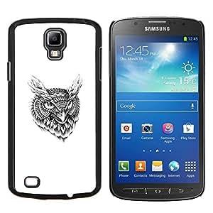 EJOOY---Cubierta de la caja de protección para la piel dura ** Samsung Galaxy S4 Active i9295 ** --Modelo tribal del tatuaje del búho