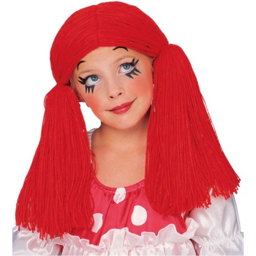 Rubie's Rag Doll Yarn Hair Wig, Red, One Size