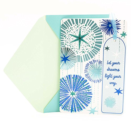 Way Bookmarks - Hallmark Graduation Greeting Card (Removable Bookmark, Let Your Dreams Light Your Way)