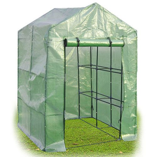 8 Shelves Greenhouse Portable Mini Walk In Outdoor Green House 2 Tier by Tamsun