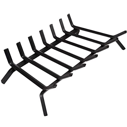 Tremendous Black Wrought Iron Fireplace Log Grate 30 Inch Wide Heavy Duty Solid Steel Indoor Chimney Hearth 3 4 Bar Fire Grates For Outdoor Fire Place Kindling Home Interior And Landscaping Ologienasavecom