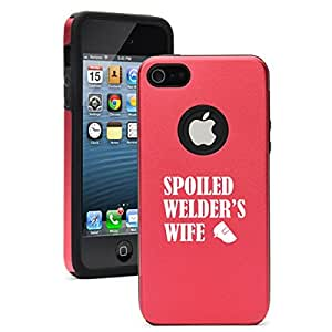 """Apple iPhone 6 (4.7"""") Aluminum Silicone Dual Layer Hard Case Cover Spoiled Welder's Wife (Red)"""