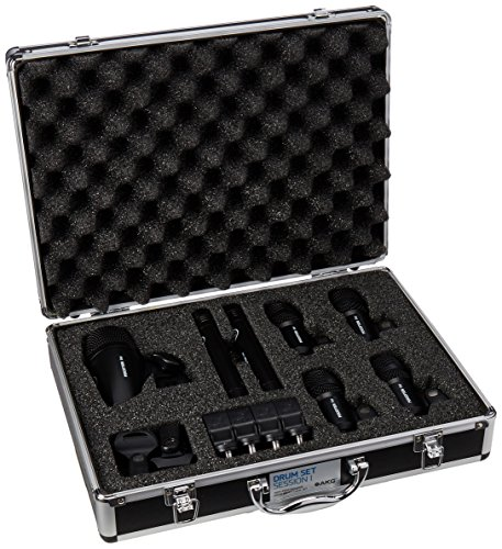 AKG Drum Set Session 1 Drum Mic Pack (1x P2, 4x P4, 2x P17) (Akg Instrument Set)