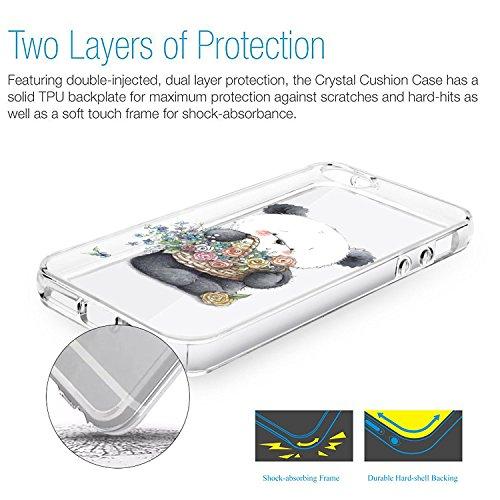 Vanki® iPhone 5S Funda, Protectiva Carcasa de Silicona de gel TPU Transparente Ultra delgada Amortigua los golpes Case Cover Para iPhone 5/SE Tecnología IMD Patrón de Impresión 04
