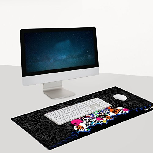 RICHEN Large Gaming Mouse Pad Mat, Office Mouse Pad Extra Large Size, Waterproof Material Extended XXL Size Mouse Mat Pad, Non-slippery Rubber Base ,35.4