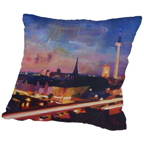 Brayden Studio Markus Bleichner Kilburn Skyline Dusk 2 Throw Pillow from Unknown