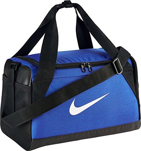 Nike Brasilia (Extra-Small) Duffel Bag Black/White Size X-Small (Game Royal/Black/White) by NIKE