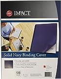 GBC Solids Standard Presentation Covers, Non-Window, Square Corners, Navy, 50 Pieces Per Box (2514494)