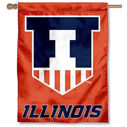 Illinois Fighting Illini Victory Badge House Flag Banner